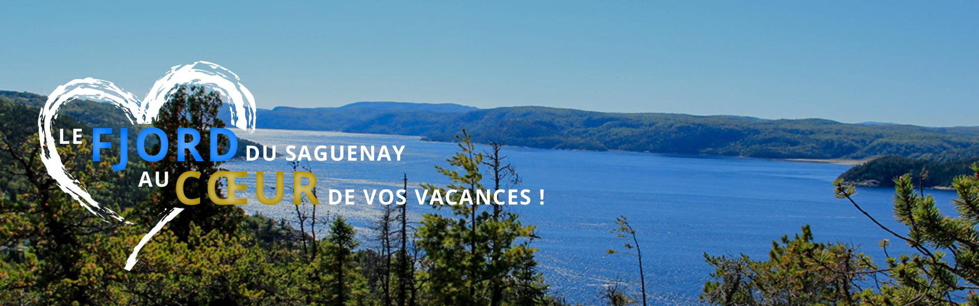 Paysage du fjord du Saguenay au Centre de Vacances Ferme 5 Étoiles